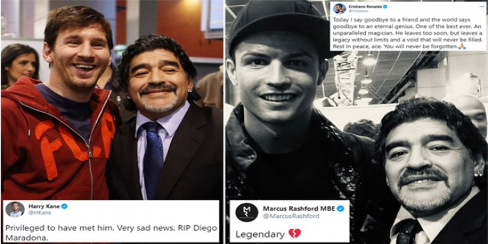 Tributes to Maradona: Legend Messi, Pele, Ronaldo Pay Respects